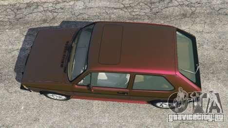 Volkswagen Rabbit 1986 v2.0 для GTA 5 вид сзади