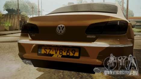 Volkswagen Passat CC для GTA San Andreas вид сзади