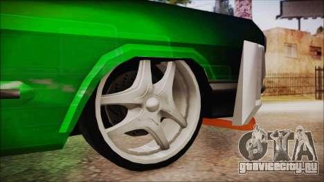 Savanna Ganstar Lowrider для GTA San Andreas вид сзади слева