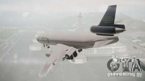 DC-10-30 World Airways (Blue Tail) для GTA San Andreas вид слева