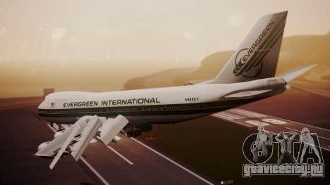 Boeing 747-200 Evergreen International Airlines для GTA San Andreas вид слева