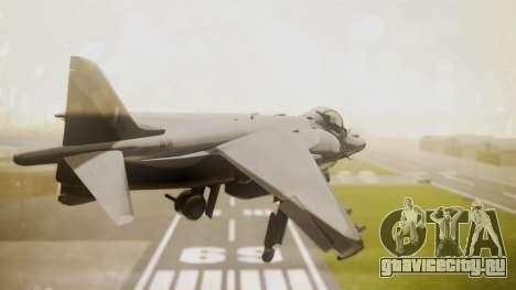 AV-8B Harrier Hellenic Air Force HAF для GTA San Andreas вид слева