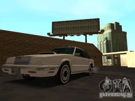 Chrysler New Yorker 1988 для GTA San Andreas вид снизу