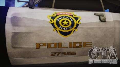 Police Car R.P.D. from RE 3 Nemesis для GTA San Andreas вид справа