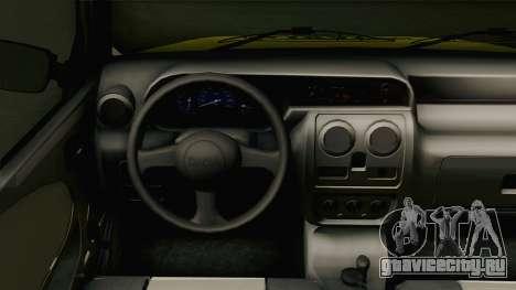 Dacia Solenza Taxi для GTA San Andreas вид изнутри