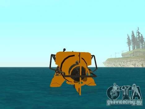 Подводный Аппарат из GTA V для GTA San Andreas салон