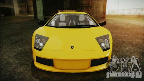 Lamborghini Murcielago 2005 Yuno Gasai IVF для GTA San Andreas вид сверху
