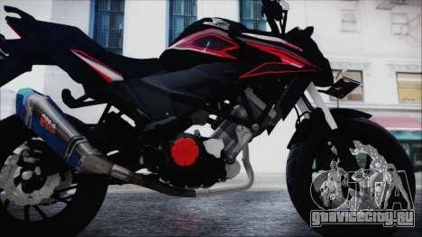 Honda CB150R Black для GTA San Andreas вид сзади