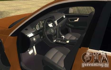 Mercedes Benz E63 AMG для GTA San Andreas вид сзади слева