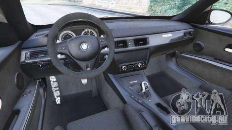 BMW M3 (E92) GTS v0.1 для GTA 5 вид сзади справа