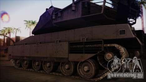 M2A1 Slammer Tank для GTA San Andreas вид сзади слева