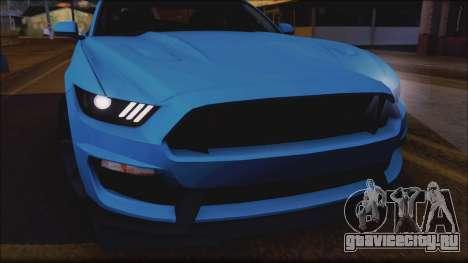 Ford Mustang Shelby GT350R 2016 No Stripe для GTA San Andreas вид изнутри