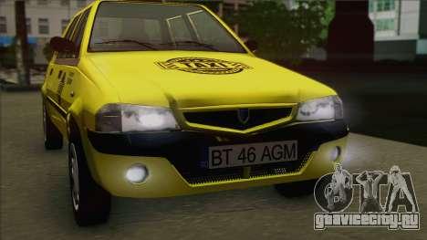 Dacia Solenza Taxi для GTA San Andreas вид справа