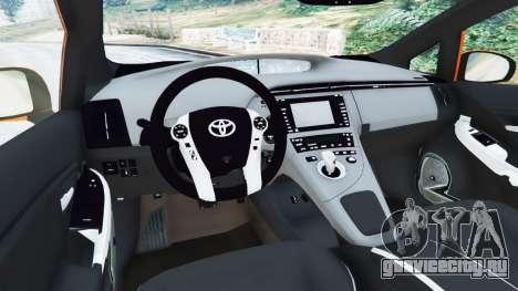 Toyota Prius v1.5 для GTA 5 вид сзади справа