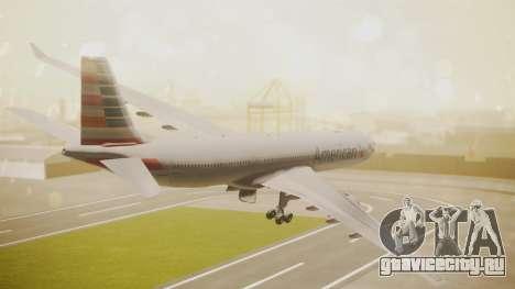 Airbus A330-300 American Airlines для GTA San Andreas вид слева