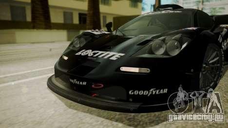 McLaren F1 GTR 1998 Loctite для GTA San Andreas вид изнутри