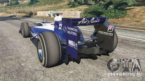 Williams FW32 для GTA 5 вид сзади слева