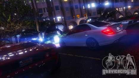 Mercedes-Benz C63 AMG v1 для GTA 5 руль и приборная панель