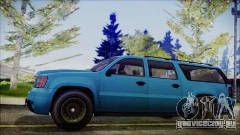 GTA 5 Declasse Granger FIB SUV IVF для GTA San Andreas вид сзади слева