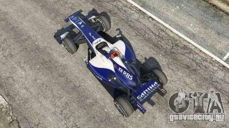 Williams FW32 для GTA 5 вид сзади