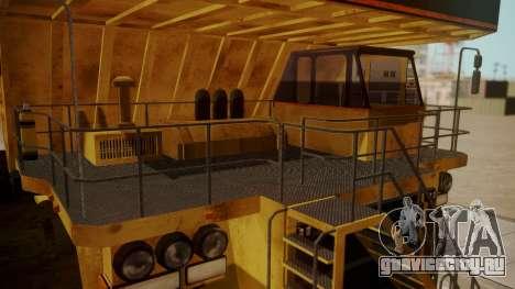 Dump Truck для GTA San Andreas вид справа