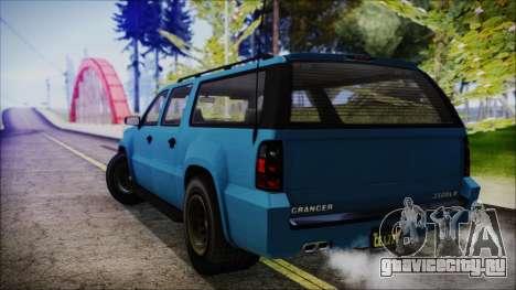 GTA 5 Declasse Granger FIB SUV IVF для GTA San Andreas вид слева