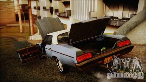 Oldsmobile Delta 88 1973 Final для GTA San Andreas вид сзади