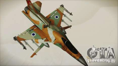 F-16C Block 25 Israeli Air Force для GTA San Andreas вид сзади слева