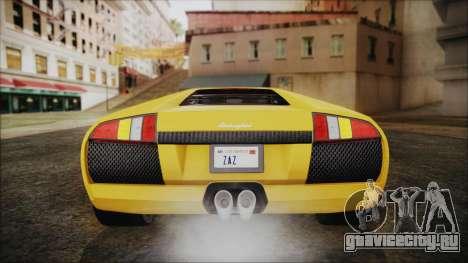 Lamborghini Murcielago 2005 Yuno Gasai IVF для GTA San Andreas вид снизу