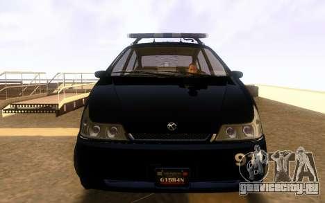 Karin Dilettante Police Car для GTA San Andreas вид слева