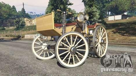 Daimler 1886 [wood] для GTA 5 вид справа