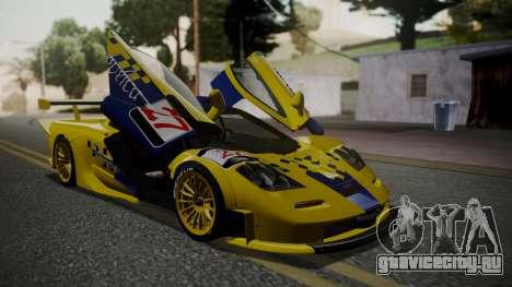 McLaren F1 GTR 1998 Parabolica для GTA San Andreas вид сзади