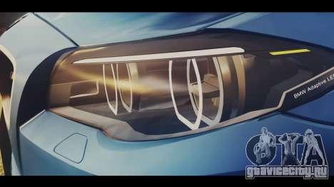 BMW M5 F10 Stock Single для GTA San Andreas вид сзади