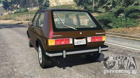 Volkswagen Rabbit 1986 v2.0 для GTA 5 вид сзади слева
