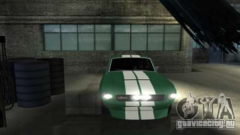 Ford Mustang Shelby GT500 1967 для GTA San Andreas вид сбоку