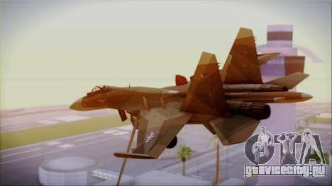 SU-27 Flanker A Philippine Air Force для GTA San Andreas вид слева