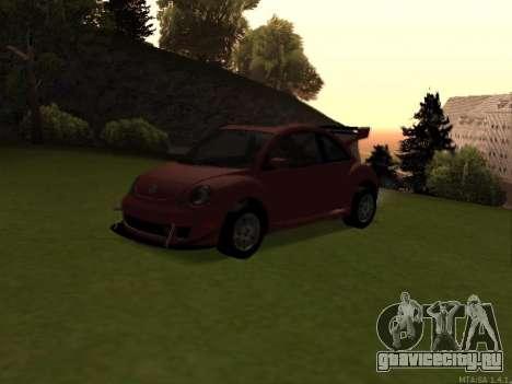 VW New Beetle 2004 Tunable для GTA San Andreas вид сзади