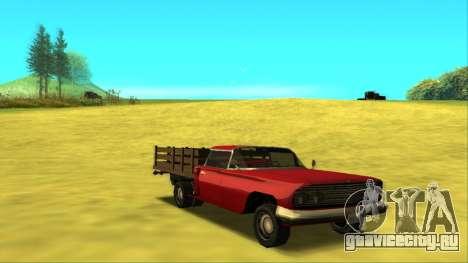 Voodoo El Camino v2 (Truck) для GTA San Andreas вид сзади