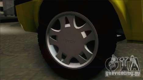 Dacia Solenza Taxi для GTA San Andreas вид сзади слева