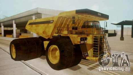 Dump Truck для GTA San Andreas вид слева