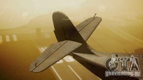 Grumman G-21 Goose N56621 Rusty для GTA San Andreas вид сзади слева