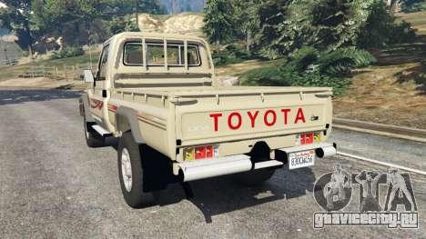 Toyota Land Cruiser LX Pickup 2016 для GTA 5 вид сзади слева