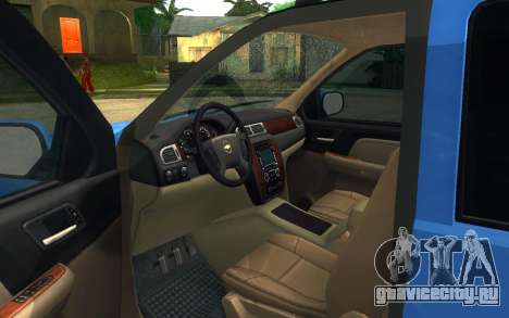 Chevrolet Tahoe для GTA San Andreas вид сзади слева