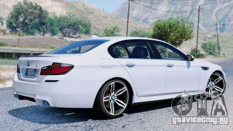 BMW M5 F10 2012 для GTA 5 вид сзади
