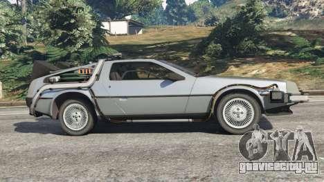 DeLorean DMC-12 Back To The Future v1.0 для GTA 5 вид слева