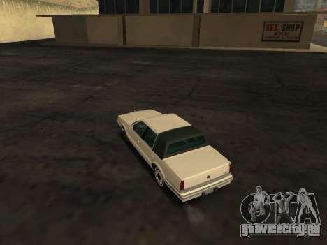 Chrysler New Yorker 1988 для GTA San Andreas вид сзади слева