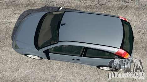 Ford Focus SVT Mk1 для GTA 5 вид сзади