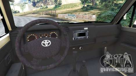 Toyota Land Cruiser LX Pickup 2016 для GTA 5 вид сзади справа