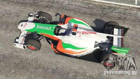 Force India VJM03 для GTA 5 вид сзади