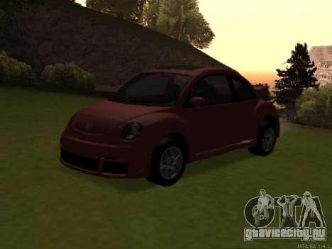 VW New Beetle 2004 Tunable для GTA San Andreas вид изнутри